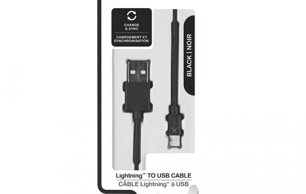 Colour Blast Charge & Sync Lightning Cable MFI – Black