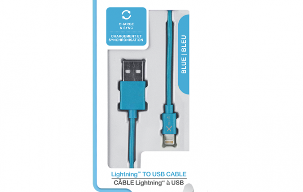 Colour Blast Charge & Sync Lightning Cable MFI – Blue