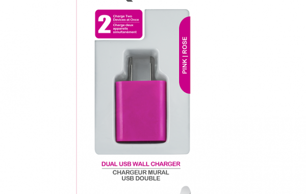 Colour Blast Wall Charger Dual USB Port 2.1amp – Pink